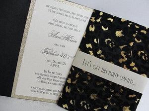 Bachelorette Invitation, Bachelorette Party, Birthday Invitation, 40th Birthday Invite, Leopard Print, Sexy Invitation, SARAHIE - 40
