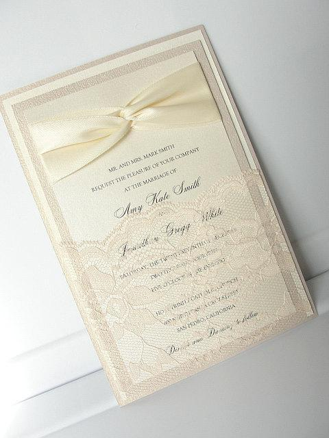 Blush Wedding Invitation, Blush Weddng Invite, Wedding Invitation, Wedding Invite, Pink Wedding Invite GIA - LOOP W/POCKET