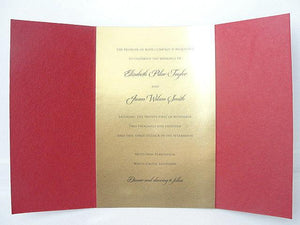 Indian Wedding Invitation, Indian Wedding Invite, Indian Red and Gold Invitation, Art Deco Invitation, Bohemian Wedding Invite SARAHIE - 42
