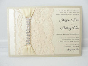 Lace Invitation, Glitter Wedding Invite, Lace Wedding Invite, Wedding Invitation, Lace Wedding, Glitzy Wedding Invite, GLAM 2 HORIZONTAL