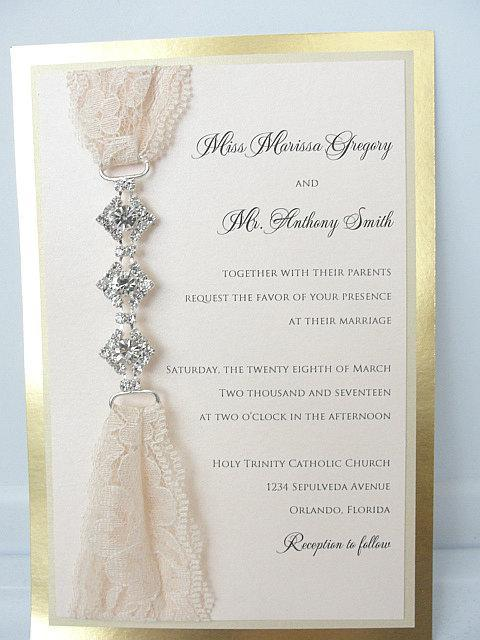 Lace Invitation, Wedding Invite, Lace Wedding Invite, Blush Pink Wedding Invitation, Lace Wedding, Romantic Wedding Invite, GLAM 3