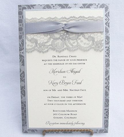 Lace Wedding Invitation, Lace Wedding Invite, Wedding Invitation, Wedding Invite, Lace Invite, Lace Invitation, Floral Invite EMILY- LOOP