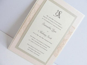 Lace Wedding Invitation, Lace Weddng Invite, Wedding Invitation, Wedding Invite, Lace Invite, Blush Invite, Lace Invitation LEAH