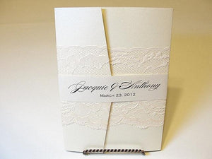 Lace Wedding Invitations, Lace Wedding Invite, Wedding Invitations, Wedding Invite, Floral Invite, Vintage Invitation MARY - HORIZONTAL