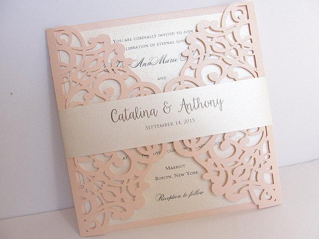 Laser Cut Wedding Invitations By Lavender Paperie