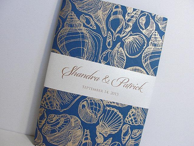 Seashell Invitation, Beach Wedding Invite, Wedding Invitation, Wedding Invite, Unique Invitation, Beach Theme Invitation,  SARAHIE - 19