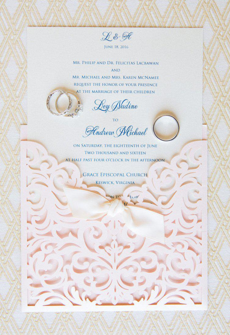 Wedding Invites - Lavender Paperie