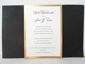 Wedding Invitation, Wedding Invite, Gatsby Invitation, Art Deco Invitation, Indian Invitation, Black and Gold Invite, SARAHIE - 36