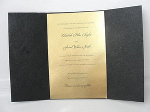 Wedding Invitation, Wedding Invite, Gatsby Invitation, Art Deco Invitation, Indian Invitation, Black and Gold Invite, SARAHIE - 43