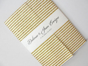 Wedding Invitation, Wedding Invite, Gatsby Invitation, Art Deco Invitation, Retro Invitation, Gold Striped Invite, SARAHIE - 32