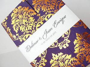 Wedding Invitation, Wedding Invite, Persian Invitation, Indian Invitation, Bohemian Invite, Gold Invitation, SARAHIE - 34