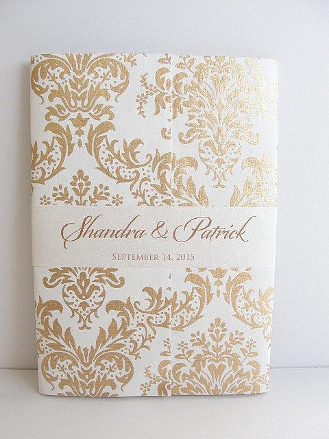 Wedding Invitation, Wedding Invite, Unique Invitation, Indian Invitation, Bridal Shower Invite, Damask Invitation, SARAHIE-11