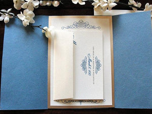 Wedding Invitation, Wedding Invite, Unique Invitation, Indian Invitation, Damask Invitation, Gold Invite, SARAHIE - 9