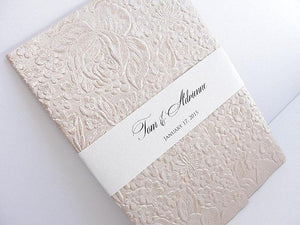 Wedding Invitation, Wedding Invite, Unique Invitation, Indian Invitation, Embossed Invitation, Floral Invitation, SARAHIE - 2