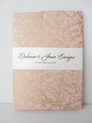 Wedding Invitation, Wedding Invite, Unique Invitation, Indian Invitation, Quinceanera Invitation, Pink Invitation, Pink Invite, SARAHIE -24