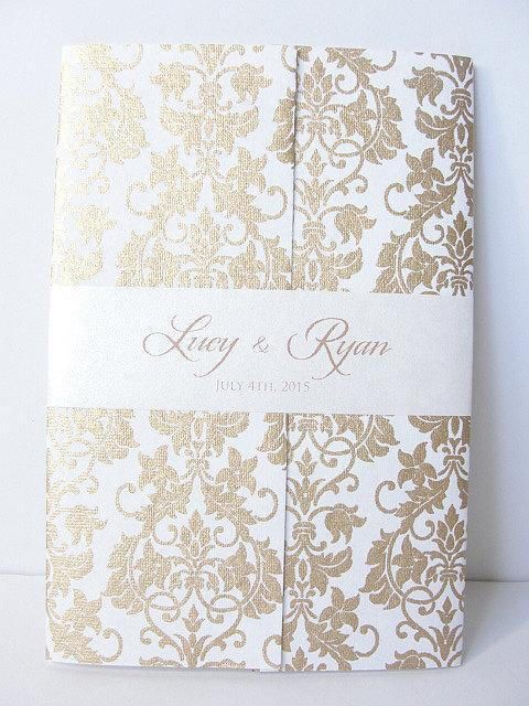 Wedding Invitation, Wedding Invite, Unique Invitation, Indian Invitation, Quinceanera Invite, Damask Invitation, SARAHIE-12