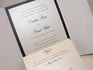 Wedding Invitation, Wedding Invite, Unique Invitation, Indian Invitation, Winter Wedding, Winter Invitation, Silver Invitation, SARAHIE - 5
