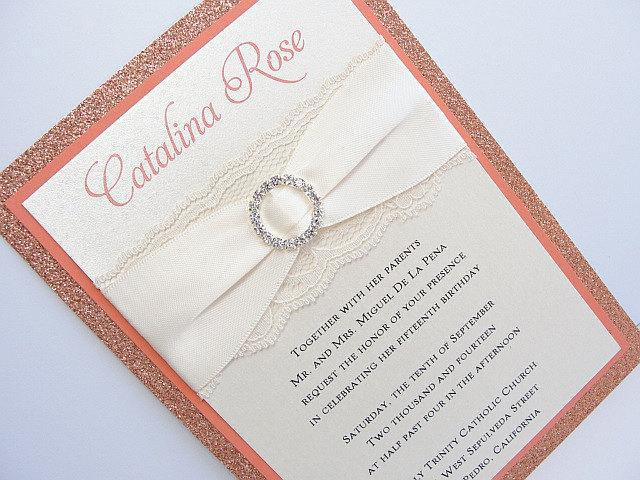 Wedding Invitations By Lavender Paperie Coco Quince Peach 75