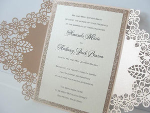 Wedding Invitations, Wedding Invites, Laser Cut Wedding Invitations, Laser Cut Wedding Invites, Blush Wedding Invite, ROMANCE
