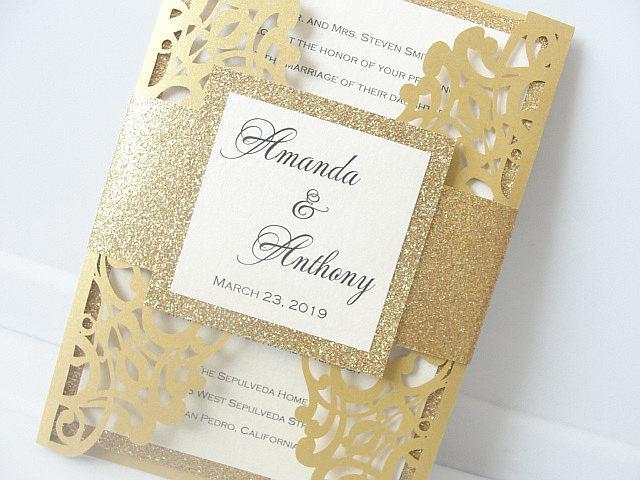 Wedding Invitations, Wedding Invites, Laser Cut Wedding Invitations, Laser Cut Wedding Invites, Blush Wedding Invite, SUNSHINE