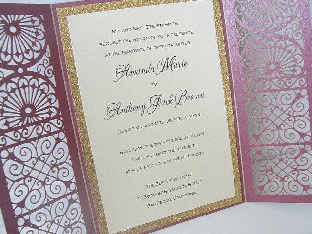 Wedding Invitations, Wedding Invites, Laser Cut Wedding Invitations, Laser Cut Wedding Invites, Persian Wedding Invite, MOSIAC