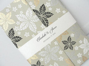 Winter Wedding Invitation, Winter Wedding Invite, Snowflake Wedding Invite, December Wedding, SARAHIE - 44