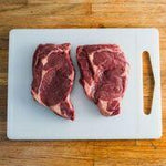 Grass Fed Beef Rib Eye Steaks