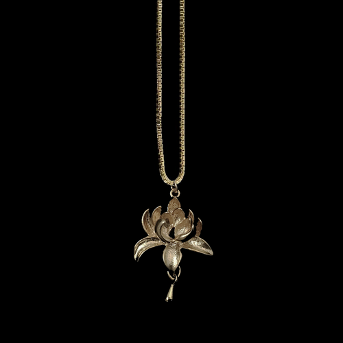 Lotus flower bomb necklace ethereal by ro lotus flower bomb mightylinksfo