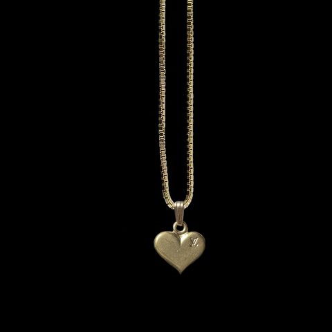 LV Heart Necklace