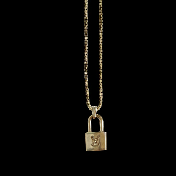 LV Mini Lock Necklace