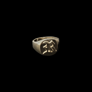 Old English Letter Ring - Custom
