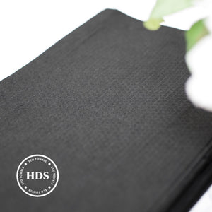 Pack of 50 Black Embossed Biodegradable Towels