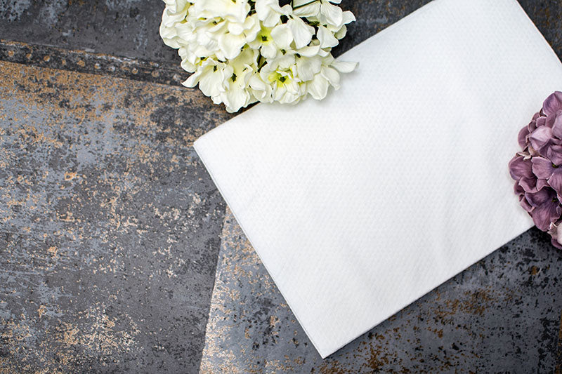 White Embossed Biodegradable Disposable Towels