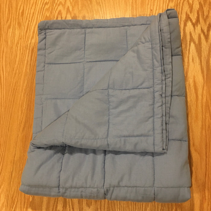 "Custom New Medium Size (33x41"") Navy Cotton 12lbs Weighted Blanket - FINAL CLEARANCE"