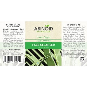 Abinoid Botanicals Face Cleanser 2 oz - Aloe & Yarrow nutritional facts, cbd for skin studies, cbd for skin inflammation, cbd oil for skin psoriasis, cbd face cleanser, cbd skin care company, cbd face serum, cbd oil benefits