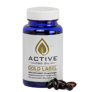 CBD Oil Capsules Gold Label | Active CBD 750 mg / 1500 mg