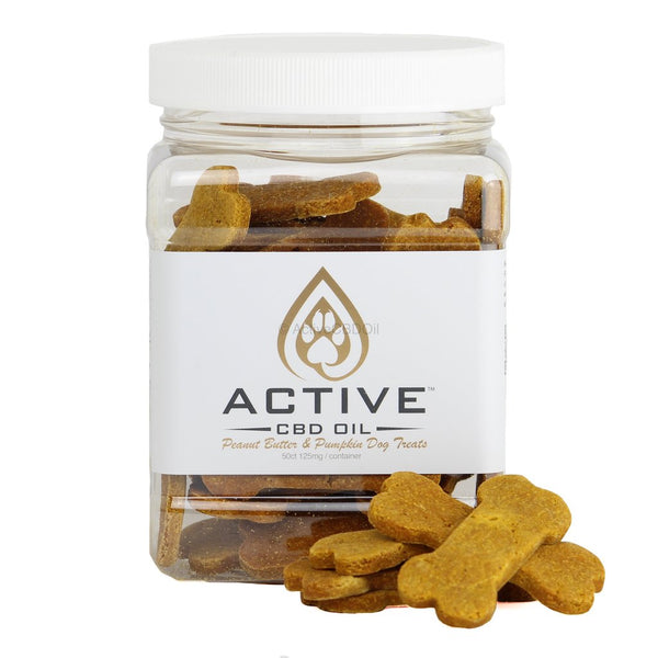 CBD Oil Dog Biscuits - 2.5 mg Organic & Gluten/Soy | Active CBD Oil