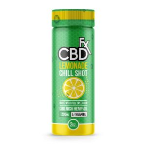 Lemonade Cannabidiol Chill Shot 20mg | CBDfx, can cbd help anxiety?, can cbd help stress?, cbd can help with PTSD