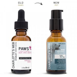 Hemp Extract Drops For Dogs 17 mg Charlotte's Web, cbd for arthritis, joint pain, and anxiety