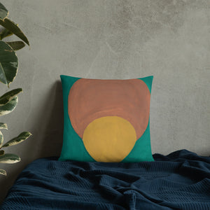 """Angela's Afro"" Throw Pillow"