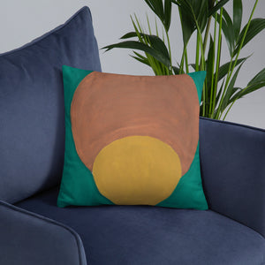 Angela's Afro Throw Pillow