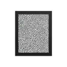 Load image into Gallery viewer, white pebbles black background