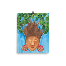 Load image into Gallery viewer, black woman with trees for hair
