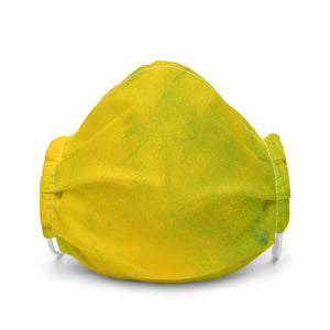yellow and green face mask