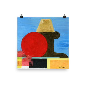 African Son acrylic painting poster
