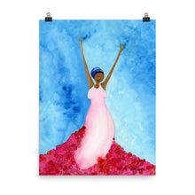 Load image into Gallery viewer, standing in her power (while black) watercolor