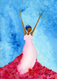standing in her power (while black) watercolor