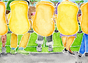 the soccer game watercolor print