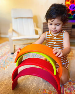 Wooden Rainbow Montessori Stackers - My Eco Tot