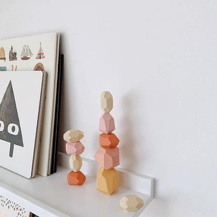 Wood Balancing Stacked Stones - Montessori Toys - My Eco Tot
